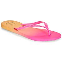 Sapatos Mulher Chinelos Havaianas SLIM GRADIENT Rosa / Amarelo