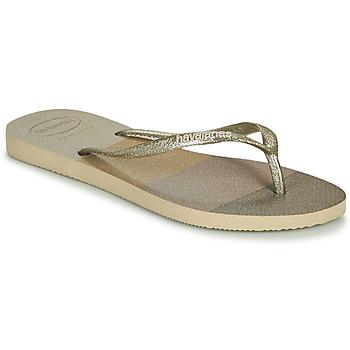 Sapatos Mulher Chinelos Havaianas SLIM PALETTE GLOW Bege