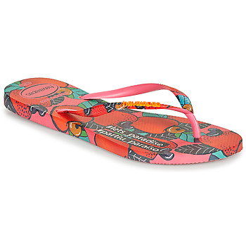 Sapatos Mulher Chinelos Havaianas SLIM SUMMER Rosa / Vermelho