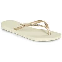 Sapatos Mulher Chinelos Havaianas SLIM GLITTER II Bege