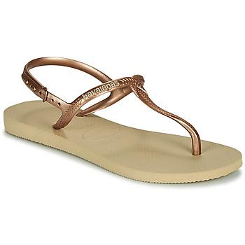 Sapatos Mulher Sandálias Havaianas TWIST Bege
