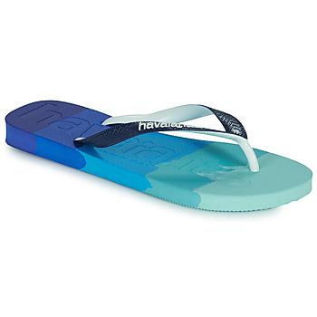 Sapatos Chinelos Havaianas TOP LOGOMANIA MULTICOLOR Marinho