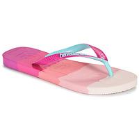 Sapatos Mulher Chinelos Havaianas TOP LOGOMANIA MULTICOLOR Rosa