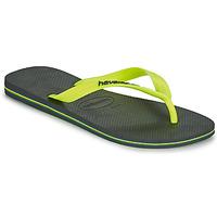 Sapatos Homem Chinelos Havaianas BRASIL LOGO Cinza