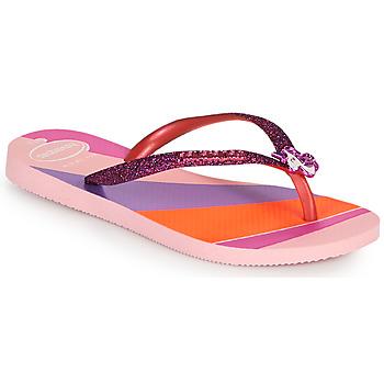 Sapatos Rapariga Chinelos Havaianas KIDS SLIM GLITTER II Rosa
