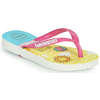 Sapatos Rapariga Chinelos Havaianas KIDS SLIM HELLO KITTY Branco