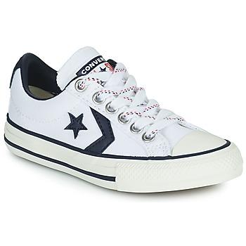 Sapatos Criança Sapatilhas Converse STAR PLAYER OX Branco / Preto
