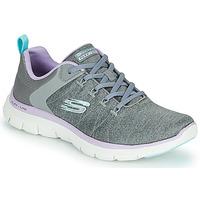 Sapatos Mulher Sapatilhas Skechers FLEX APPEAL 4.0 Cinzento / Rosa