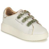 Sapatos Mulher Sapatilhas Serafini CONNORS Branco / Ouro / Verde