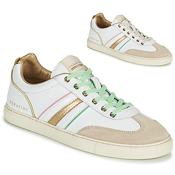 Sapatos Mulher Sapatilhas Serafini COURT Branco / Ouro