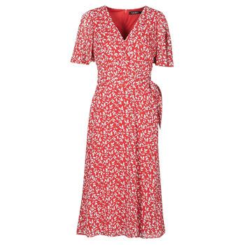Textil Mulher Vestidos compridos Lauren Ralph Lauren ABEL Vermelho