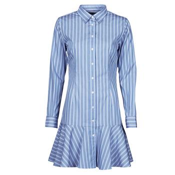 Textil Mulher Vestidos curtos Lauren Ralph Lauren TRIELLA Azul / Branco