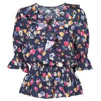 Textil Mulher camisas Lauren Ralph Lauren HELZIRA Azul / Multicolor