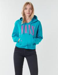Textil Mulher Sweats Vans WM KAYE CROP HOODIE Azul
