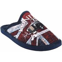 Sapatos Homem Chinelos Gema Garcia Vá para casa cavalheiro  2301-1 az.roj Rouge