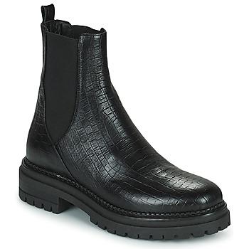 Sapatos Mulher Botas baixas Minelli LAMINA Preto