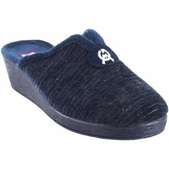 Sapatos Mulher Chinelos Gema Garcia Vá para casa senhora  7114-2 azul Bleu