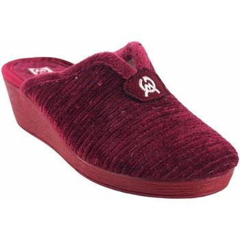 Sapatos Mulher Chinelos Gema Garcia Vá para casa senhora  7114-2 bordeaux Rouge