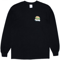 Textil Homem T-shirt mangas compridas Ripndip Fat hungry baby long sleeve Preto