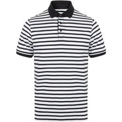 Textil Homem Polos mangas curta Front Row FR230 Branco/Navio