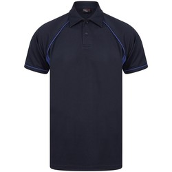 Textil Homem Polos mangas curta Finden & Hales LV370 Marinha/Royal Blue