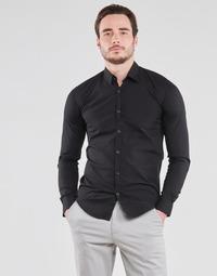 Textil Homem Camisas mangas comprida BOTD OMAN Preto