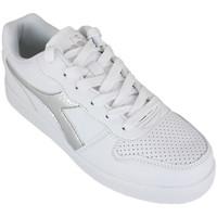Sapatos Rapariga Sapatilhas Diadora playground gs girl c0516 Prata