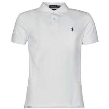 Textil Homem Polos mangas curta Polo Ralph Lauren POLO CINTRE SLIM FIT EN COTON BASIC MESH LOGO PONY PLAYER Branco