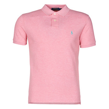 Textil Homem Polos mangas curta Polo Ralph Lauren POLO CINTRE SLIM FIT EN COTON BASIC MESH LOGO PONY PLAYER Rosa