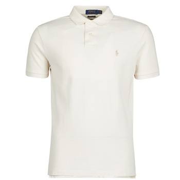 Textil Homem Polos mangas curta Polo Ralph Lauren POLO CINTRE SLIM FIT EN COTON BASIC MESH LOGO PONY PLAYER Cru