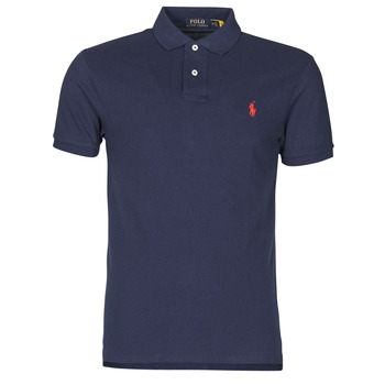 Textil Homem Polos mangas curta Polo Ralph Lauren POLO CINTRE SLIM FIT EN COTON BASIC MESH LOGO PONY PLAYER Marinho