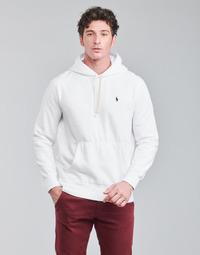 Textil Homem Sweats Polo Ralph Lauren SWEAT A CAPUCHE MOLTONE EN COTON LOGO PONY PLAYER Branco