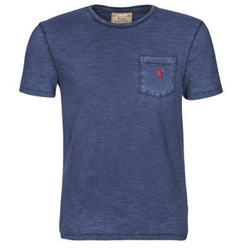 Textil Homem T-Shirt mangas curtas Polo Ralph Lauren T-SHIRT AJUSTE COL ROND EN COTON LOGO PONY PLAYER Azul