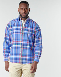 Textil Homem Camisas mangas comprida Polo Ralph Lauren CHEMISE AJUSTEE EN OXFORD COL BOUTONNE  LOGO PONY PLAYER MULTICO Multicolor