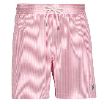 Textil Homem Fatos e shorts de banho Polo Ralph Lauren MAILLOT SHORT DE BAIN RAYE SEERSUCKER CORDON DE SERRAGE ET POCHE Vermelho / Branco