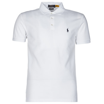Textil Homem Polos mangas curta Polo Ralph Lauren POLO CINTRE SLIM FIT EN COTON STRETCH MESH LOGO PONY PLAYER Branco