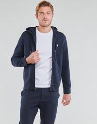 Textil Homem Sweats Polo Ralph Lauren SWEATSHIRT A CAPUCHE ZIPPE EN JOGGING DOUBLE KNIT TECH LOGO PONY Marinho