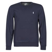Textil Homem Sweats Polo Ralph Lauren SWEATSHIRT COL ROND EN JOGGING DOUBLE KNIT TECH LOGO PONY PLAYER Azul / Marinho