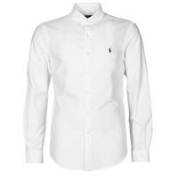 Textil Homem Camisas mangas comprida Polo Ralph Lauren CHEMISE CINTREE SLIM FIT EN OXFORD LEGER TYPE CHINO COL BOUTONNE Branco