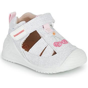 Sapatos Rapariga Sandálias Biomecanics 212213 Prata / Branco