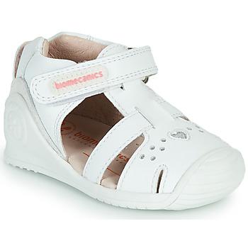 Sapatos Rapariga Sandálias Biomecanics 212104 Branco / Prata