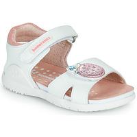 Sapatos Rapariga Sandálias Biomecanics 212163 Branco / Rosa