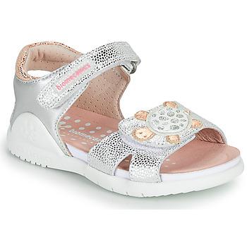 Sapatos Rapariga Sandálias Biomecanics 212172 Prata