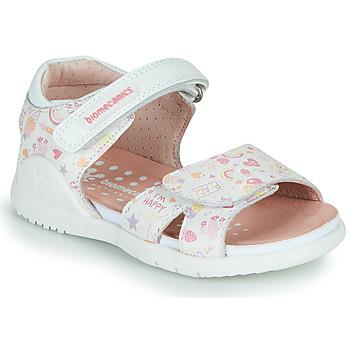 Sapatos Rapariga Sandálias Biomecanics 212165 Branco / Multicolor