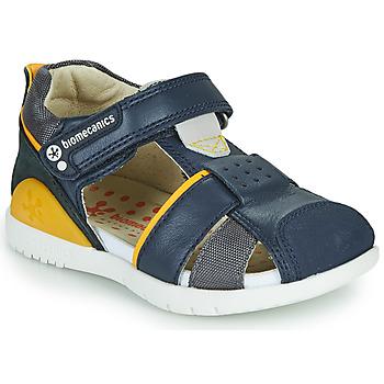 Sapatos Rapaz Sandálias Biomecanics 212187 Marinho / Amarelo