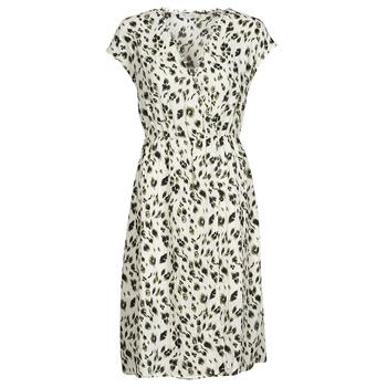 Textil Mulher Vestidos curtos See U Soon 21122122 Bege / Cáqui