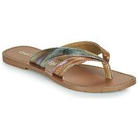 Sapatos Mulher Chinelos Chattawak KALINDA Ouro / Multicolor