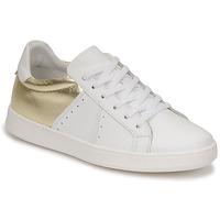 Sapatos Mulher Sapatilhas Myma PIGGE Branco / Dourado