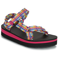 Sapatos Rapariga Sandálias Teva C MIDFORM FRAY Rosa / Multicolor