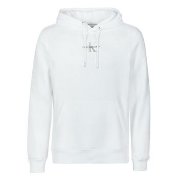 Textil Homem Sweats Calvin Klein Jeans NEW ICONIC ESSENTIAL HOODIE Branco
